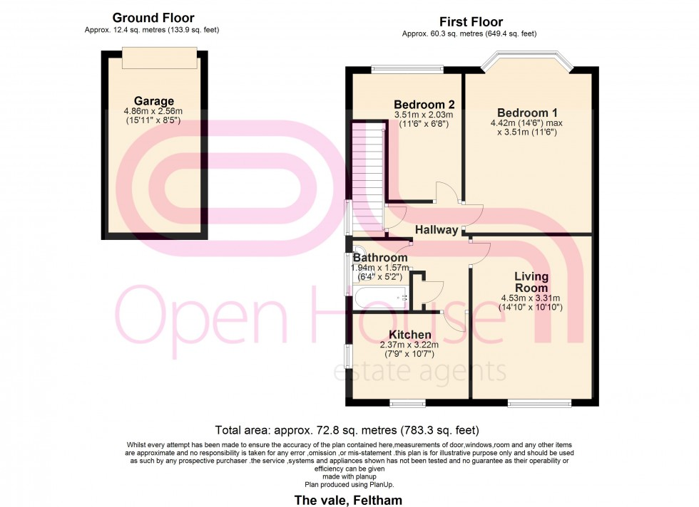 Floorplan for The Vale, Feltham