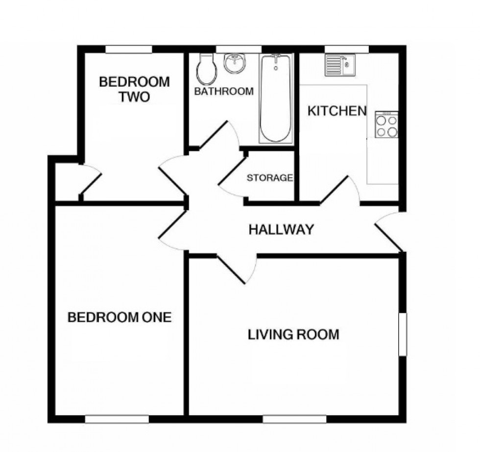 Floorplan for Gilldown Place, Pakenham Village, Birmingham